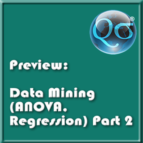 Data Mining (ANOVA Regression) Part 2