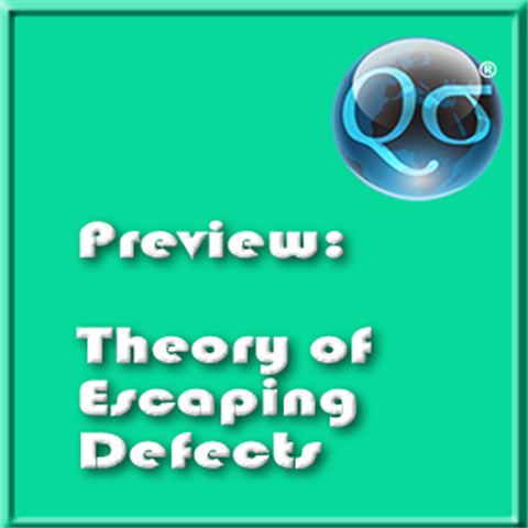 Theory of Escaping Defects