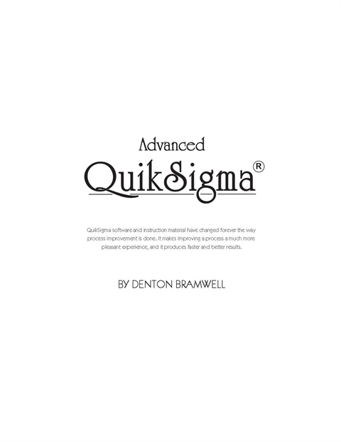 Advanced QuikSigma