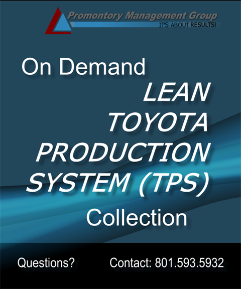 Lean Toyota Production Systems Complete Package