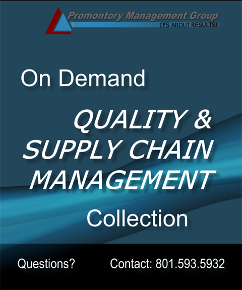 Quality and Supply Chain Management Complete Package
