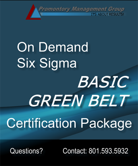 Basic Green Belt Certification Complete Package